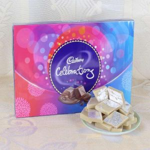 Celebration Chocolate and Kaju katli