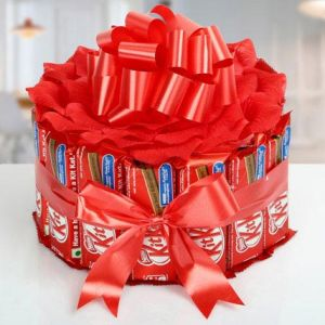 Sweet KitKat Bouquet - Diwali Gifts to Panchkula
