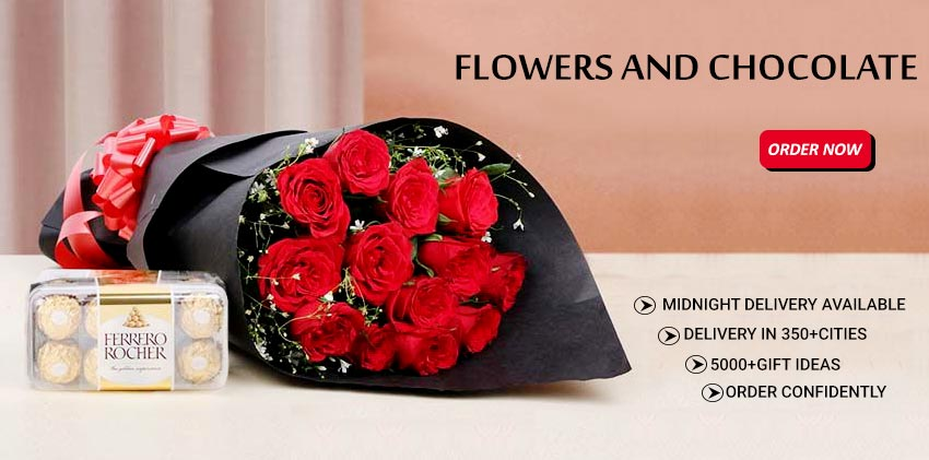 Flowers and chocolates Delivery Online