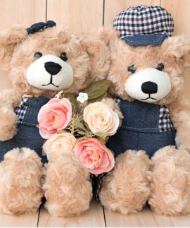 Flowers and Teddy Bear Online